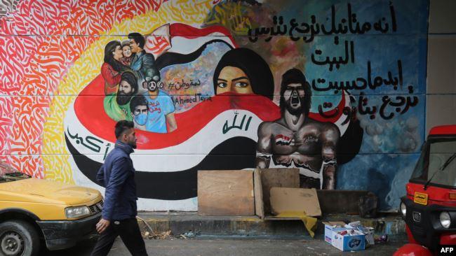 """نساء العراق.. محرك """"احتجاجي"""" تخلّده جدران التحرير! (صور)"""