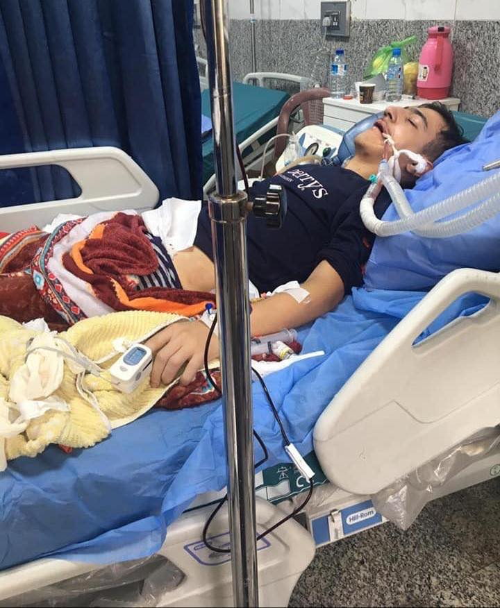 صورة.. وفاة شاب في بغداد متأثراً بقنبلة غازية