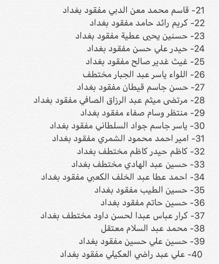 بالأسماء.. عشرات المخطوفين والمفقودين منذ بدء الاحتجاجات الشعبية