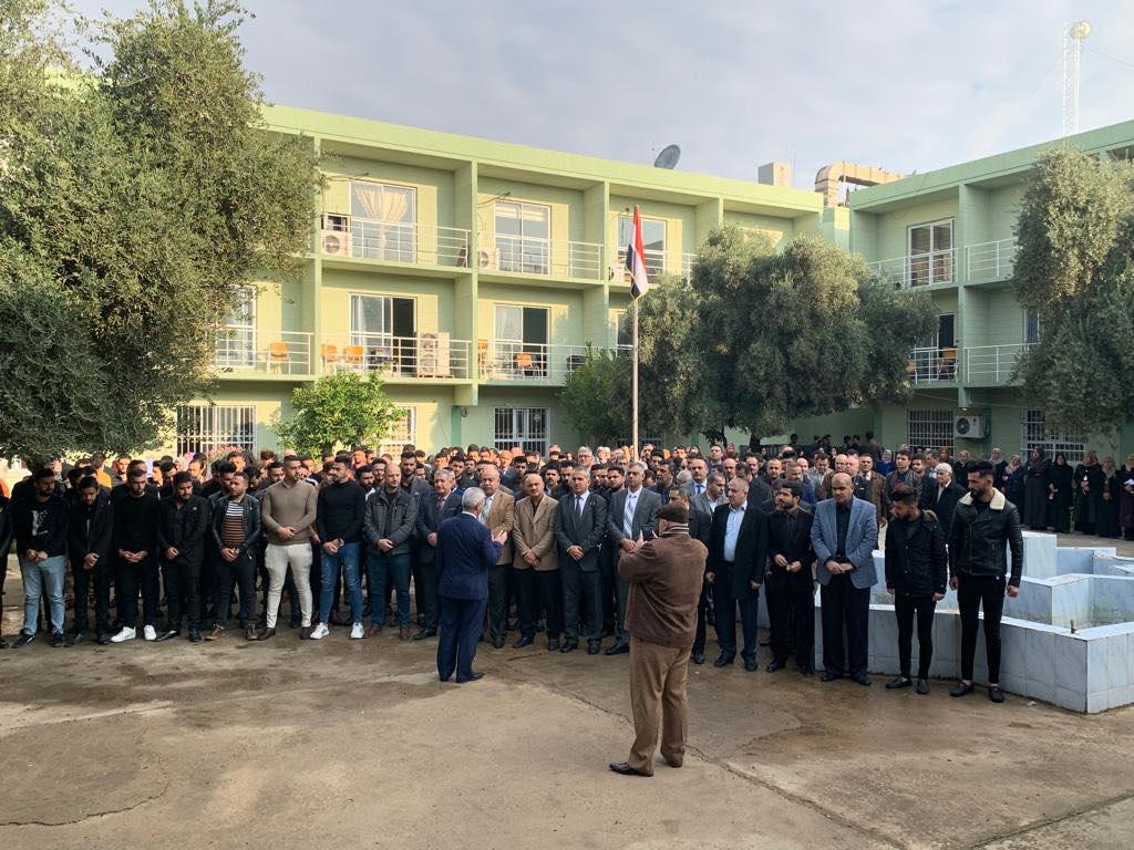 مشاهد من الحزن والاحتجاج في جامعة الموصل.. حداد وتضامن مع المتظاهرين (فيديو)