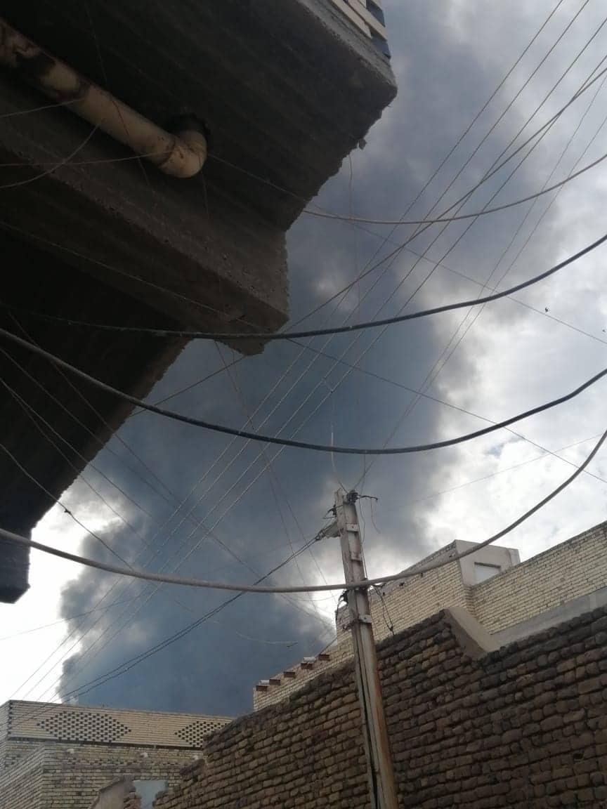 اندلاع حريق هائل في أنبوب نفط شمالي الناصرية (صور وفيديو)