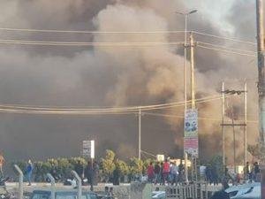 ذي قار: حرق مبنى هيئة الحشد الشعبي بالكامل! (صور)