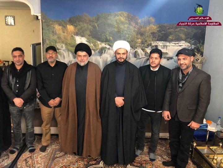 الصدر يلتقي قادة فصائل مسلحة من بينهم الكعبي والولائي (صور)