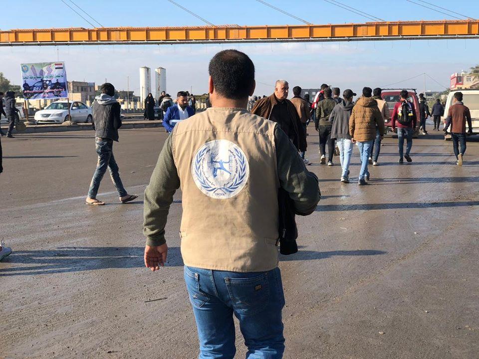 حقوق الانسان تكشف عن مقتل متظاهر في ديالى: المحتجون رفعوا شعارات سلمية (صور)
