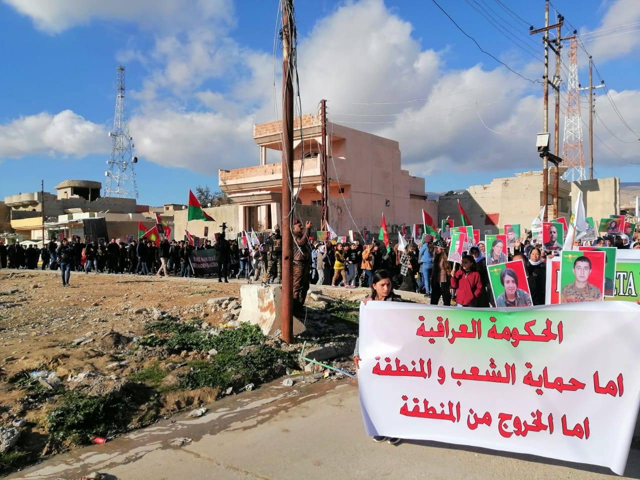 تظاهرة غاضبة تصوب شمالاً: اطردوا القوات التركية من العراق (صور)