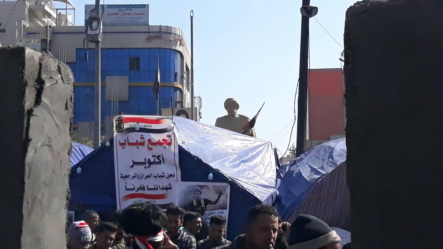 """كاميرا """"ناس"""" ترصد مراحل تشييد خيم الاعتصام """"المقاومة للنار""""!"""