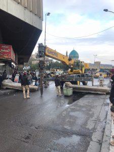 القوات الأمنية تفتح ساحة الخلاني