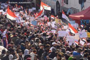أرض التحرير تهتز .. بنات بغداد يهتفن ضد أميركا وإيران (فيديو)