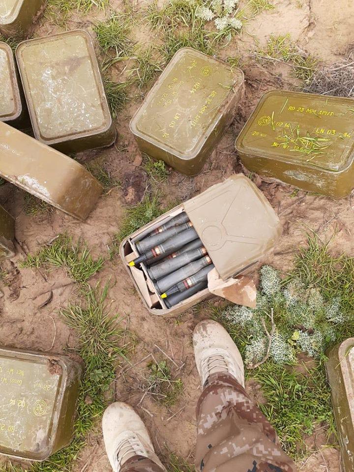 ضبط حاويات عتاد مضاد للطائرات وصاروخ في الموصل