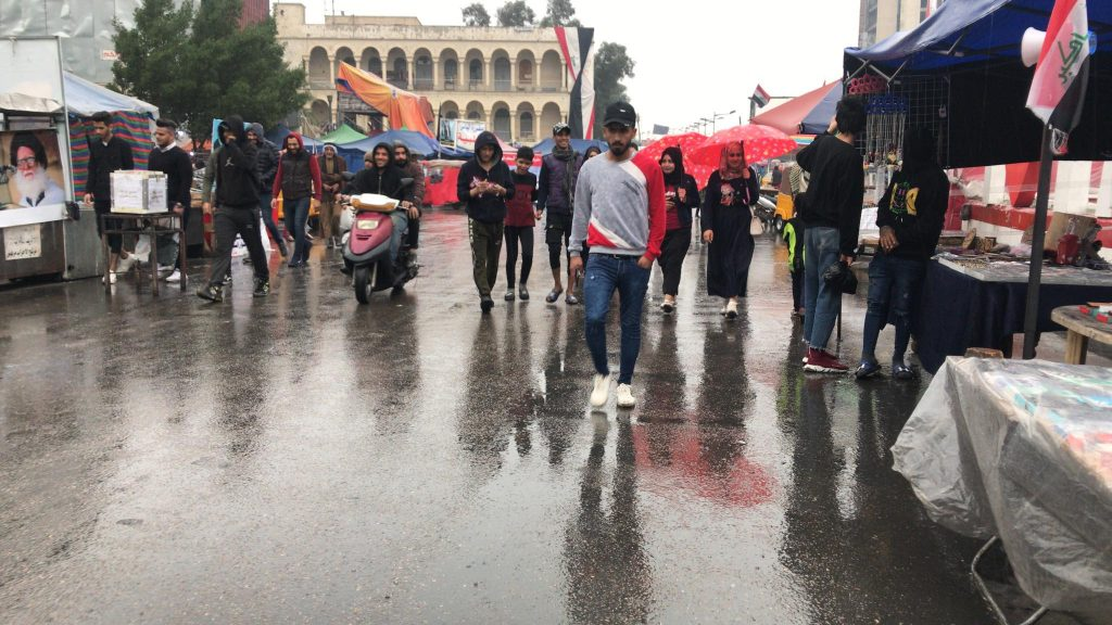 صور: هكذا بدت ساحة التحرير في يوم 25 شباط