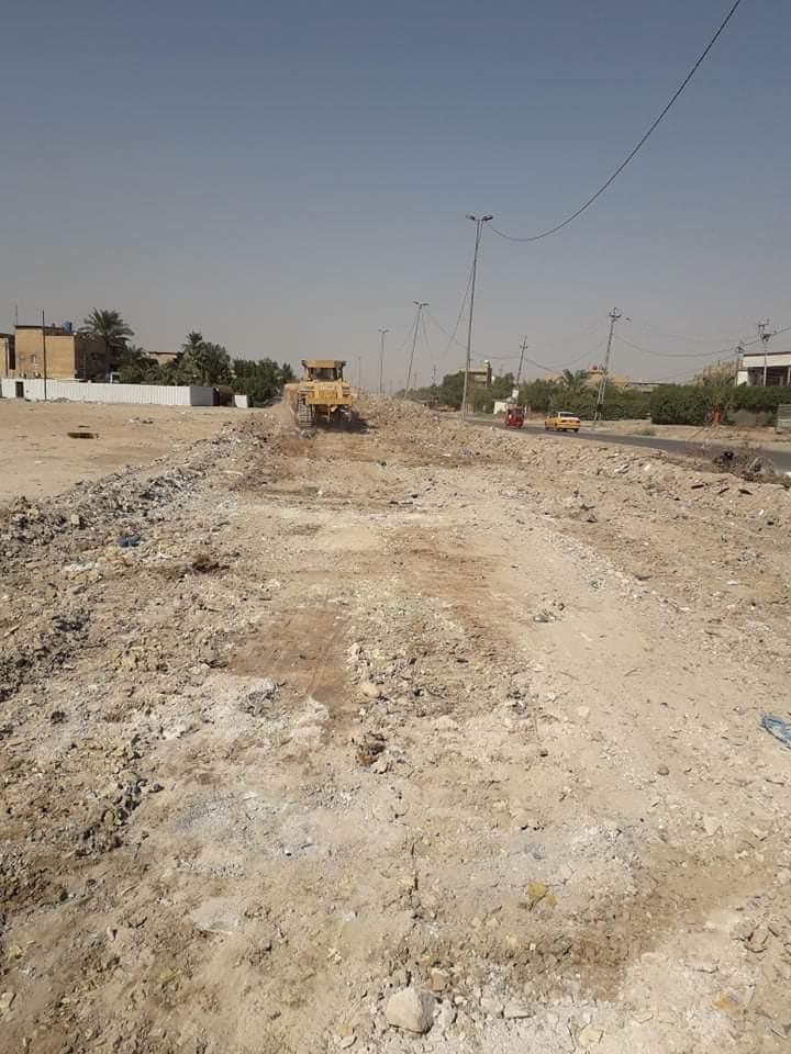 صور.. حملة إعمار شارع 'مندثر' في بغداد