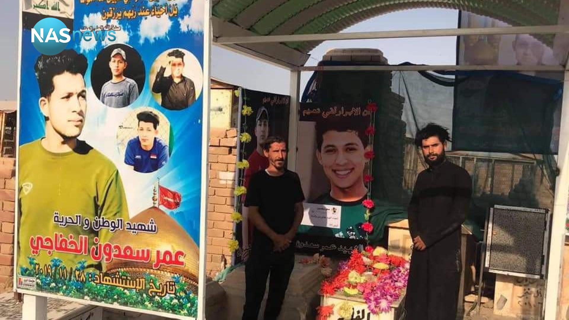 متطوعون يعيدون ترميم قبر 'عمر السعدون' بعد تخريب على يد مجهولين (صور)