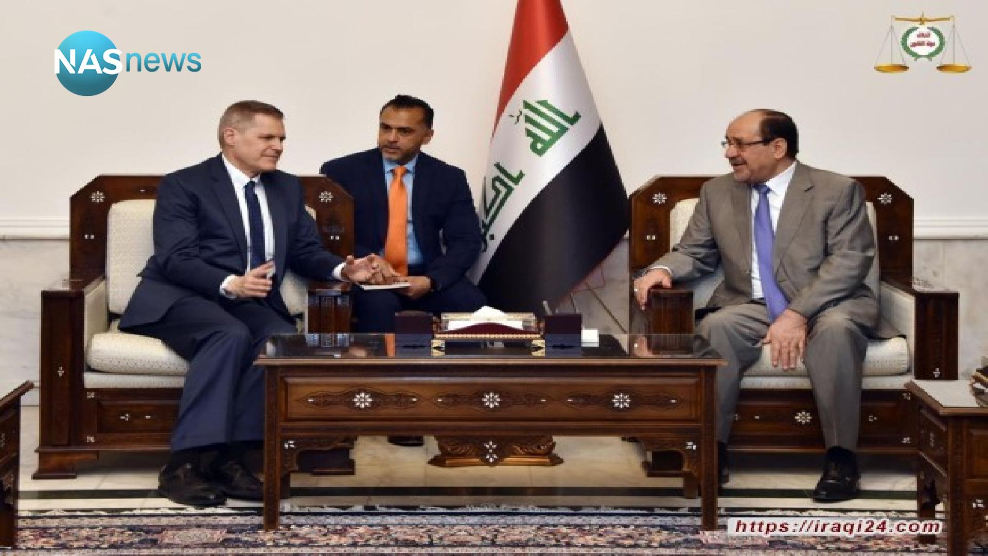 """The US ambassador meets Al-Maliki: Emphasis on the importance of the """"strategic framework agreement"""" and early elections"""