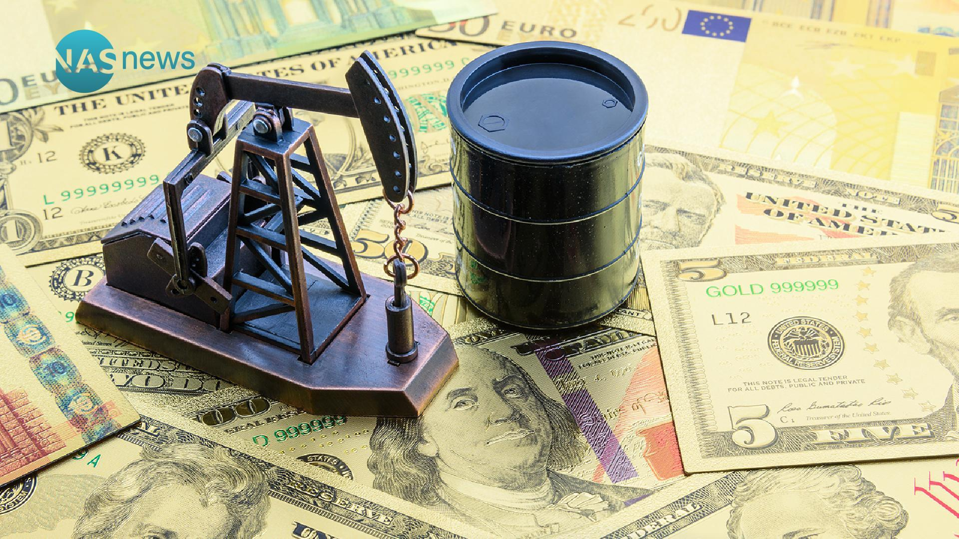 List the prices of the dollar, some currencies, oil and gold