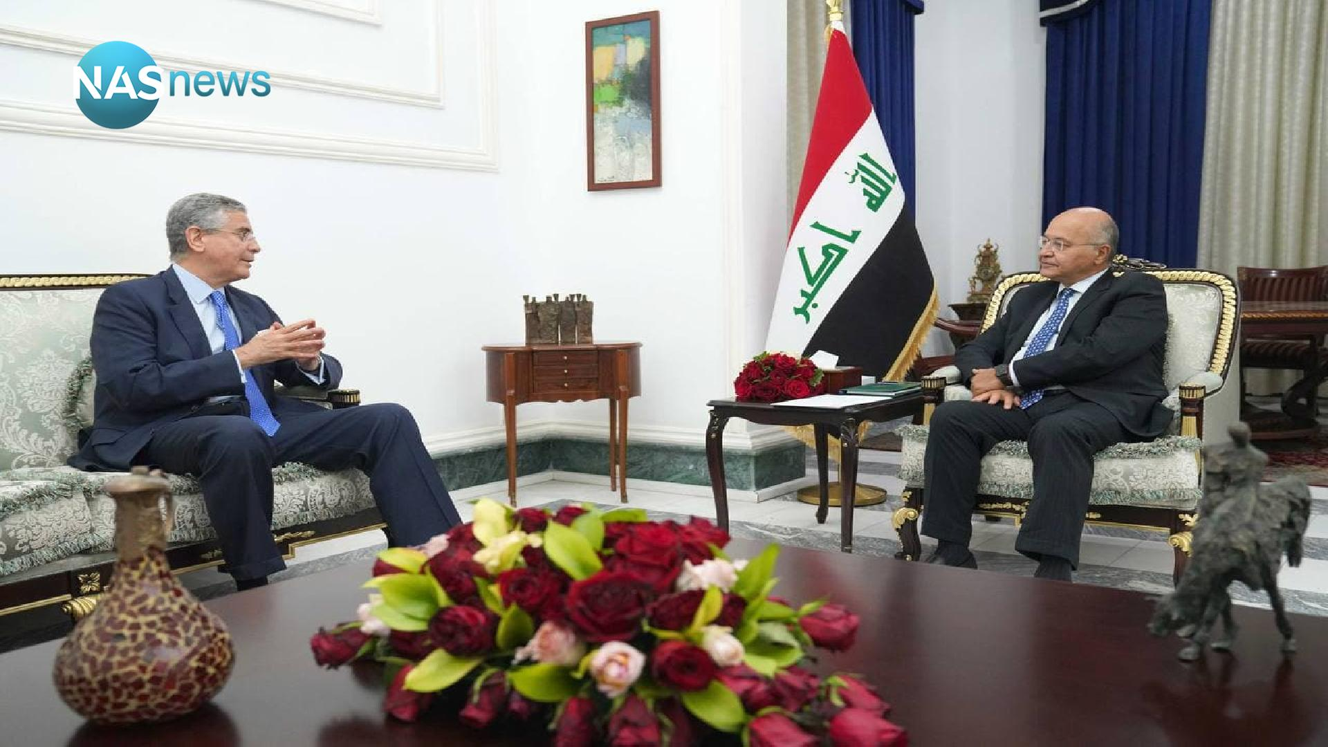 Discussions between a delegation from the World Bank and the President of the Republic in Baghdad