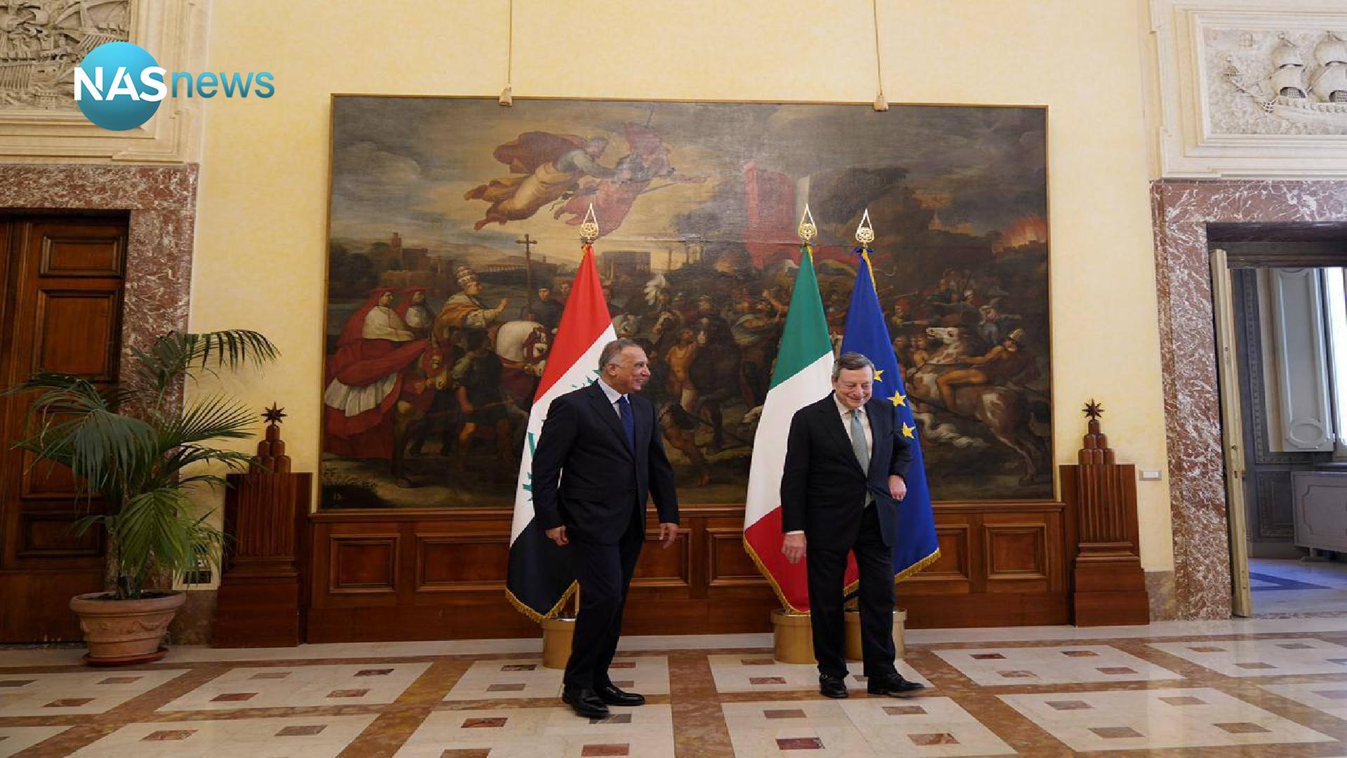 Al-Kazemi meets the Italian Prime Minister in Rome