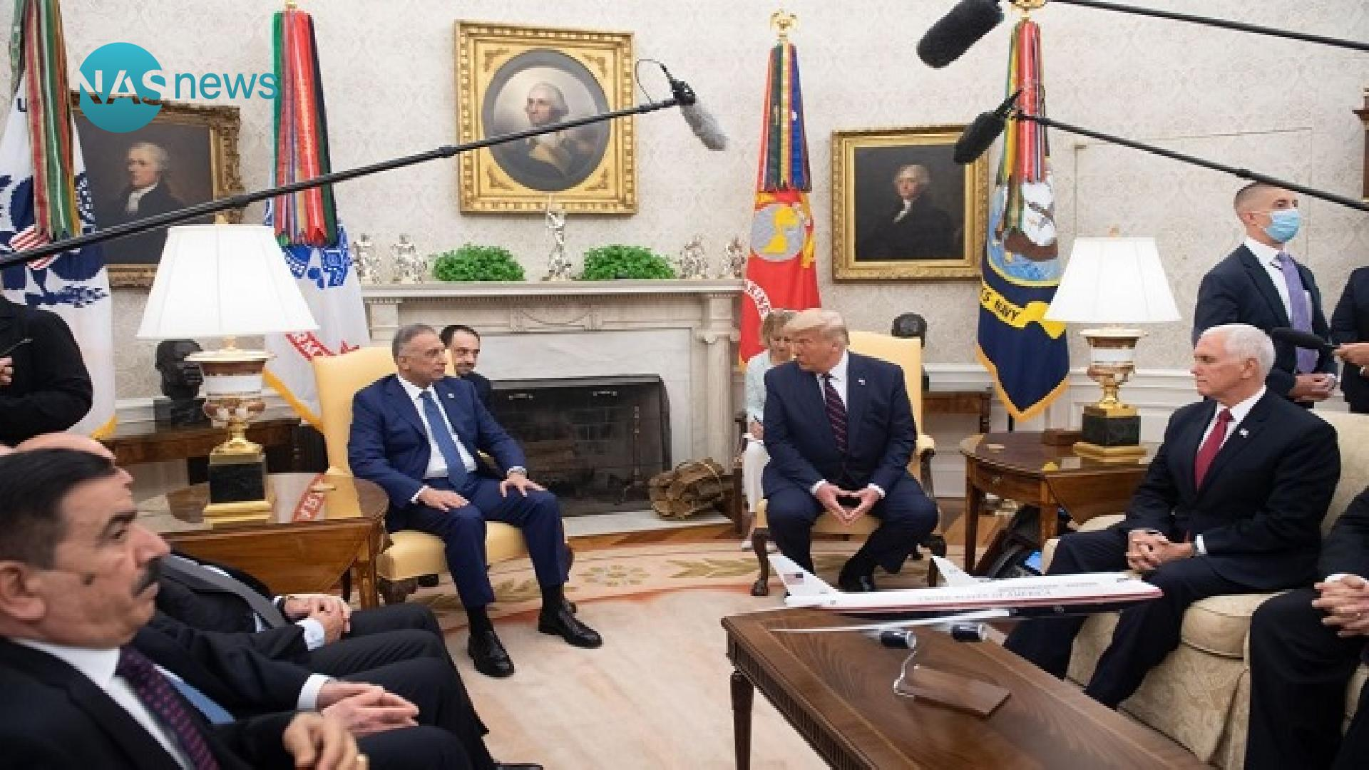 Al-Kazemi and Trump meet: The US President talks about the military withdrawal from Iraq E9f0e0130-38326-202008200720