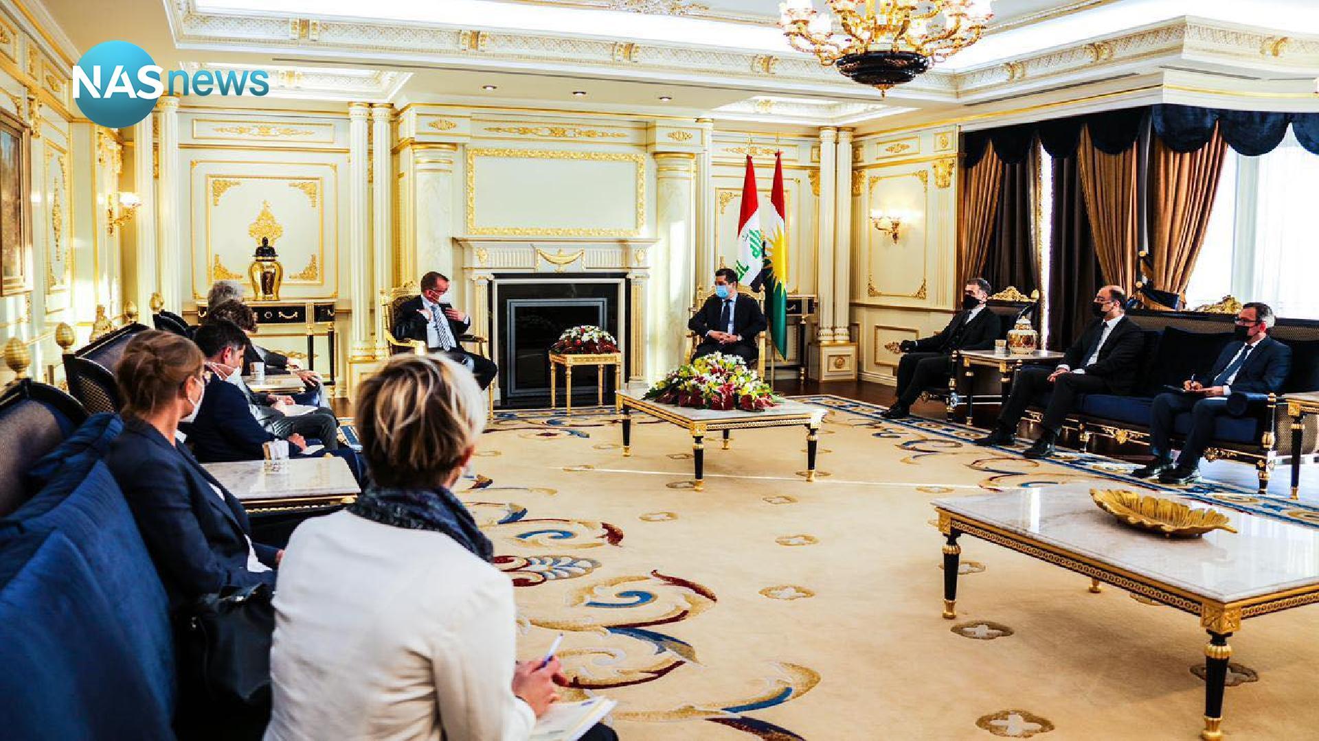 بارزاني يبحث مع سفيري فرنسا وألمانيا تنفيذ اتفاق سنجار وإحلال الاستقرار بالمنطقة