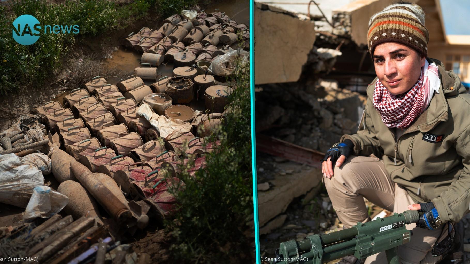 خطوات على الجمر.. نساء إيزيديات يتقلدن أدوار 'محاربي الألغام'